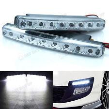 2X 8 LED Daytime Running Light Car Driving Front Lamp Fog lampDRL White 12V