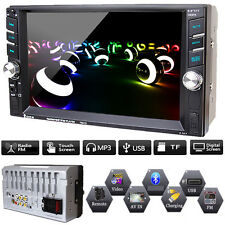 "Double 2 Din 6.6"" Car FM/MP5 Player Touch Screen In Dash Stereo Radio Bluetooth"