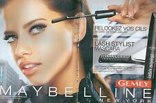 ▬► PUBLICITE ADVERTISING AD GEMEY MAYBELLINE New York MASCARA 2 pages 2006