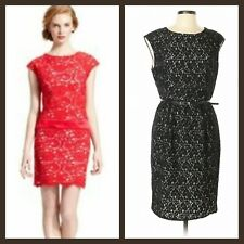 Luxology Black Pink Red Lace Cap Sleeves Party Cocktail Dress ~ 6, 8  M3020