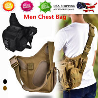 Durable Men Military Tactical Chest Shoulder Bag Pack for Outdoor Travel Hiking