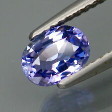0.88 Ct Natural Purplish Blue TANZANITE Eye Clean Oval Facet for Jewelry Setting