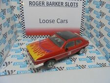 """Scalextric Ford Capri 3.0 Red/flames  """"Lights""""  '#3 VGC  unboxed bargain"""