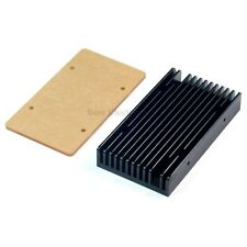 4.3x2.3inch 109.2x58.5mm Aluminum Heat Sink for 10W LED Black with Acrylic plate