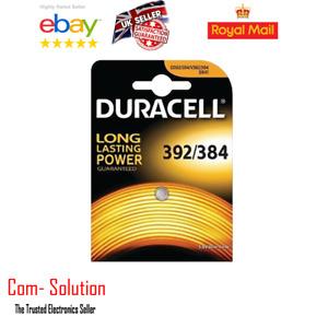 392/384 Silver Oxide Battery 1,5V SR41W Duracell (Best Before 2017)
