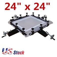 "US - 24"" x 24"" Manual Screen Stretching Machine High Precise Screen Printing"