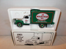 Wolf's Head Motor Oil 1951 Ford F-6 Dry Goods Van By First Gear 1/34th Scale   !