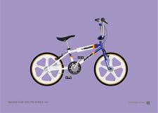 Raleigh Team Aero Pro Burner (Skyways) – Old School BMX A4 Print – Retro gift