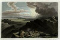Mount Jefferson White Mountains NH c.1850 engraved view print lovely hand color
