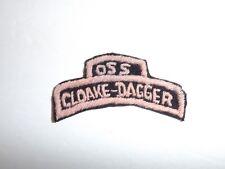 e0644 WW2 OSS Office Strategic Service Cloake Dagger C20A18