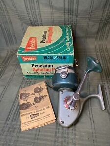 Vintage Heddon 251 Precision Spinning Reel High Speed With Box & Instruction