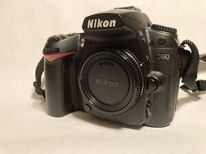 Nikon Nikkor D90 DSLR Digital Camera Body With Grip, 2 Batteries, Charger, Strap