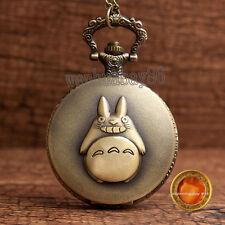 Totoro Japanese Animated Film Movie Totoro Quartz Necklace Pocket Watch Gift BOX