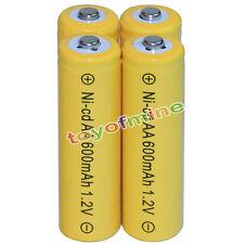 4x AA battery batteries Bulk Nickel Cadmium Rechargeable NI-cd 600mAh 1.2V Yel