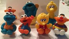 Vintage Muppets Roly Poly Lot of 7, Ernie Cookie Monster Big Bird Elmo