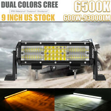 "CREE 9Inch 6500K 600W 93000LM LED Light Bar Flood Spot for Jeep Ford 16""22""32""42"