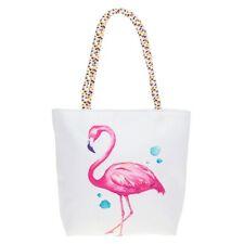Small Canvas Flamingo Tote Bag - Shopping Bag - Holiday Bag - Flamingo Design