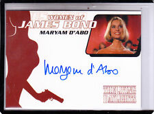 "2002 WOMEN OF JAMES BOND MARYAM D'ABO ""KARA MILOVY"" WA2  AUTOGRAPH AUTO"