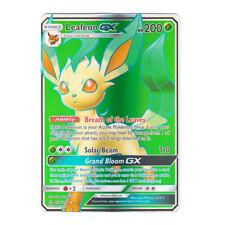 Leafeon GX FULL ART Holo Sun & Moon Ultra Prism 139/156 (Proxy | Flash Card)