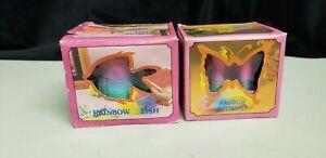 Vintage Rainbow Fish, Rainbow Butterfly Plastic Slinkys