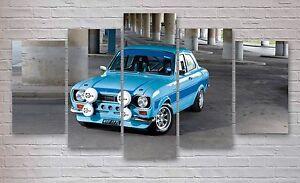 Ford Escort Cosworth 5 Panel Canvas, Wall Art, Picture, Multi Panel, #004