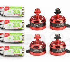 4pcs RacerStar 2205 2300kV 2-4S Brushless Motor + 4pcs 20A 2-4S ESC BB2 DShot600