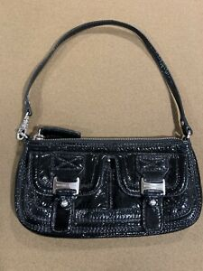 Michael Kors A-0707 Black Patent Leather Small Shoulder Bag