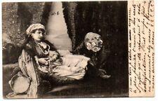 "Egypt 1904 ""Femme Princesse"" postcard sent to Paris"
