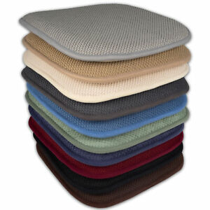 "Memory Foam Honeycomb Non-Slip Chair/Seat 16"" x 16"" Cushion Pad 2, 4, 6, 12 Pack"