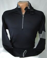 Dunning Golf L/S Stripe Sleeve Quarter Zip Popover in Black MSRP $115 NWT - LG