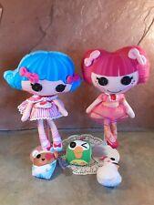 Mga Lalaloopsy lot of plush rag dolls & pets