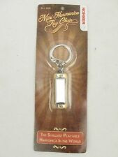 Wholesale lot of 12 Hohner Mini Harmonicas Key of C Harp Keychains Model #108BRN