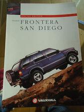 Vauxhall frontera Folleto de San Diego 1997 de enero