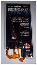 "Dressmaker Shears/Scissors 7"" Stainless Steel Two-Tone Acrylic Handles Sister"