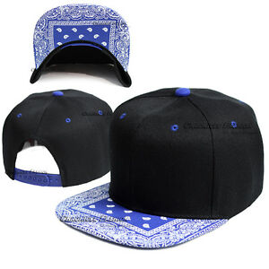 Bandana Paisley Baseball Cap Snapback Hat Adjustable Hip Hop Flat Bill Solid Men