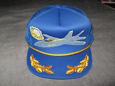 Blue Angels Cap - Vintage USA Navy Pilot Airplane Air Show Mesh Baseball Hat