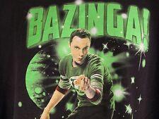 Big Bang Theory Bazinga XL Black T-Shirt Tee Sheldon Cooper TV Show Short Sleeve