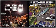 Lot of 2 C-BO cd's: Enemy of the State, Life as a Rider ~rap [PA] used, mint