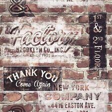 Brooklyn New York Graffiti Old Red Brown Brick Wall Caractéristique Papier Peint 238600