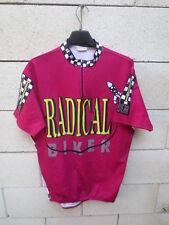 Maillot cycliste BEST RADICAL BIKER vintage shirt damier fusée oldschool 90's XL