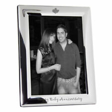 Silverplate Anniversary Heart Photo & Picture Frames