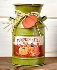 Decorative Pumpkins Milk Can Tin Vase Utensil Holder Rustic Primitive Farmhouse