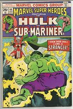 Marvel Super-Heroes Featuring Hulk and Sub-Mariner lot of 2 comics, #s 39 and 44