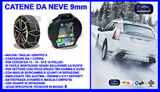 CATENE DA NEVE 9 mm 185/55-15 R15 OMOLOGATE Ö-Norm 5117, TÜV RV-80 + valigetta