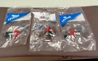 LOT OF 3 Leviton 41108-RR5 Category 5 Quickport Connector CAT 5 Red