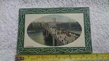 "Postcard ""London Bridge"" Pt of ""National Series"" Used with KE VII SG268 Stamp"