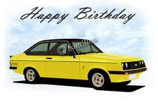 Ford Escort Mk2 RS2000  21st 40th 50th 60th Birthday Car Greetings Card *RS*