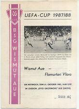 UEFA - EC III 87/88 BSG Wismut Aue - Flamurtari Vlora, 21.10.1987