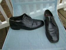 ROMAN VENI VIDI VICI ITALIAN BLACK LEATHER OXFORDS MENS DRESS SHOES SIZE 9 D