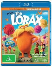 Dr. Seuss' The Lorax (Blu-ray, 2012) BRWT Sealed with 3 bonus mini movies Family